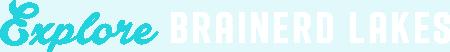Explore Brainerd Lakes Logo Horizontal White and Blue