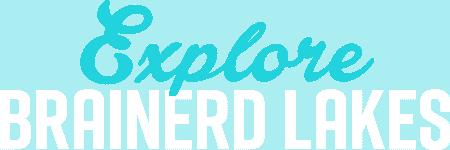 Explore Brainerd Lakes Logo Square White and Blue